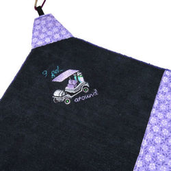 "Picture of Golf Towel ""I get around"""