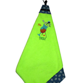 """Picture of Golf Towel Cocktail""""19e Trou"""" - Chartreuse"""