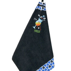 "Picture of Golf Towel Cocktail ""19e Trou"" - Black"