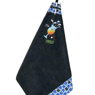 "Picture of Golf Towel Cocktail ""19e Trou"" - Black"