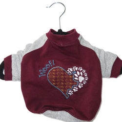 Picture of Dog Long Sleeves T-shirt - Heart