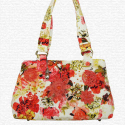 Picture of Handbag - Coral Blooms