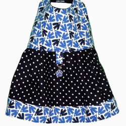 Picture of Dog Dress - Birds & Dots no collar